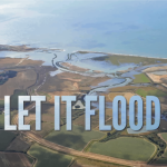 Aerial picture of Medmerry marsh.