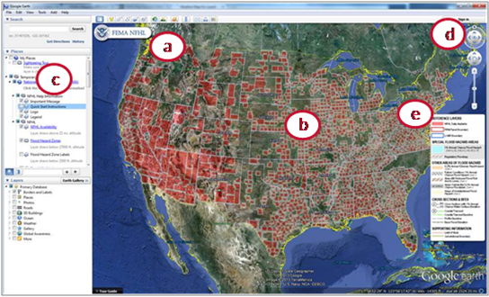 Screen capture of FEMA NFHL data within Google Earth.