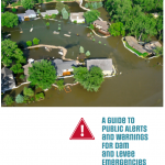 "A screen capture of the cover of the USACE report titled ""A guide to Public Alerts and Warnings for Dam and Levee Emergencies"""