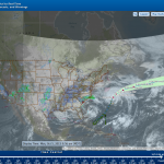 A screen capture of the NOAA nowCoast map service.