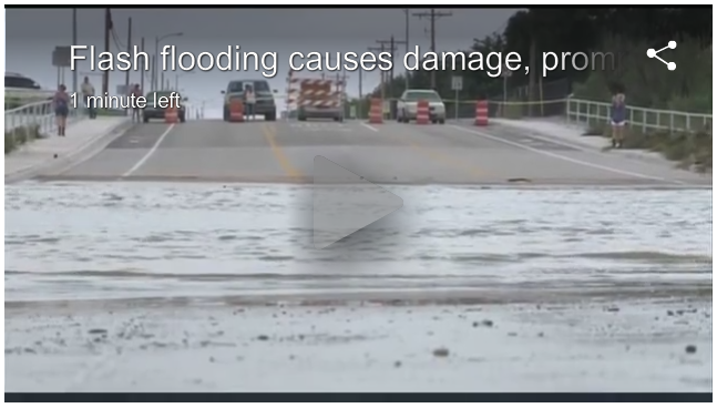 Flooding damage in Eddy County from KRQE News 13.